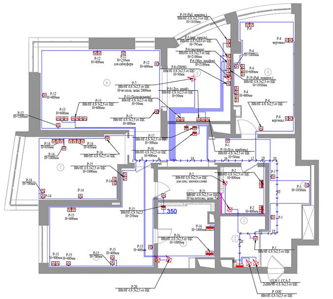 План розетояной сети